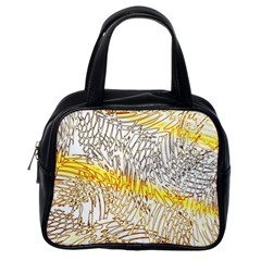Abstract Composition Digital Processing Classic Handbags (One Side)