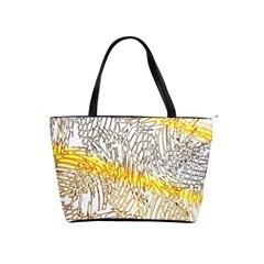 Abstract Composition Digital Processing Shoulder Handbags