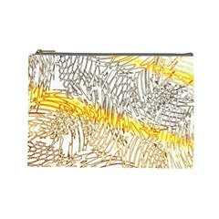 Abstract Composition Digital Processing Cosmetic Bag (large)