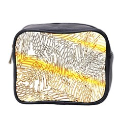 Abstract Composition Digital Processing Mini Toiletries Bag 2 Side