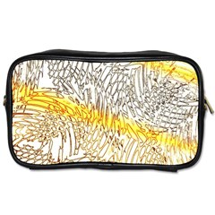 Abstract Composition Digital Processing Toiletries Bags