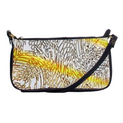 Abstract Composition Digital Processing Shoulder Clutch Bags