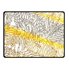 Abstract Composition Digital Processing Fleece Blanket (small)