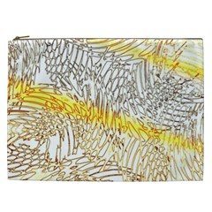 Abstract Composition Digital Processing Cosmetic Bag (XXL)