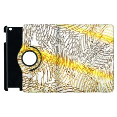 Abstract Composition Digital Processing Apple iPad 3/4 Flip 360 Case