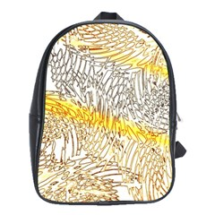 Abstract Composition Digital Processing School Bags (XL)