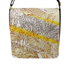 Abstract Composition Digital Processing Flap Messenger Bag (L)