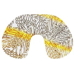 Abstract Composition Digital Processing Travel Neck Pillows