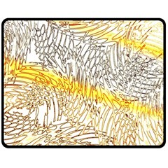 Abstract Composition Digital Processing Double Sided Fleece Blanket (medium)