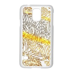 Abstract Composition Digital Processing Samsung Galaxy S5 Case (white)