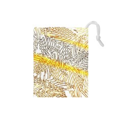 Abstract Composition Digital Processing Drawstring Pouches (small)