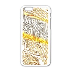 Abstract Composition Digital Processing Apple Iphone 6/6s White Enamel Case