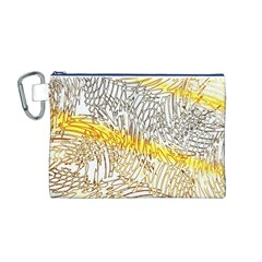 Abstract Composition Digital Processing Canvas Cosmetic Bag (M)