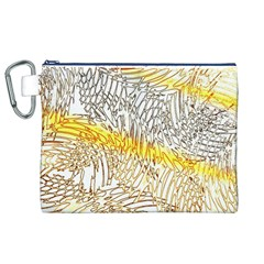 Abstract Composition Digital Processing Canvas Cosmetic Bag (xl)