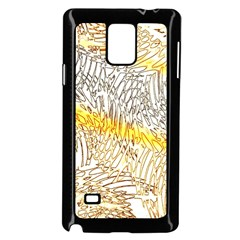 Abstract Composition Digital Processing Samsung Galaxy Note 4 Case (black)