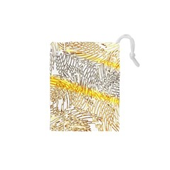 Abstract Composition Digital Processing Drawstring Pouches (XS)