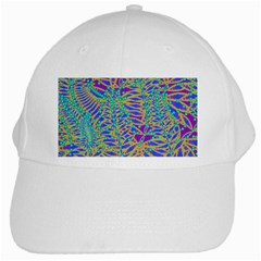 Abstract Floral Background White Cap
