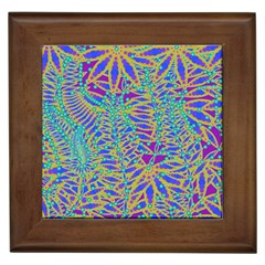 Abstract Floral Background Framed Tiles