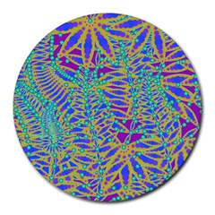 Abstract Floral Background Round Mousepads