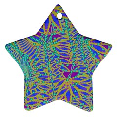 Abstract Floral Background Ornament (Star)