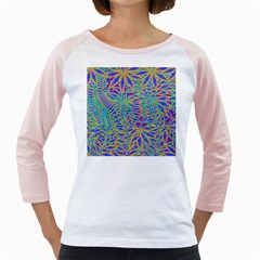 Abstract Floral Background Girly Raglans