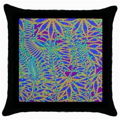 Abstract Floral Background Throw Pillow Case (Black)