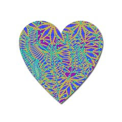 Abstract Floral Background Heart Magnet