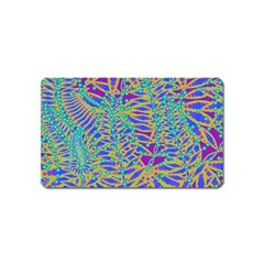 Abstract Floral Background Magnet (name Card)