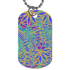 Abstract Floral Background Dog Tag (one Side)