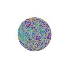 Abstract Floral Background Golf Ball Marker
