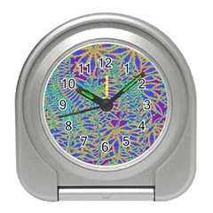 Abstract Floral Background Travel Alarm Clocks