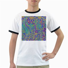 Abstract Floral Background Ringer T-Shirts
