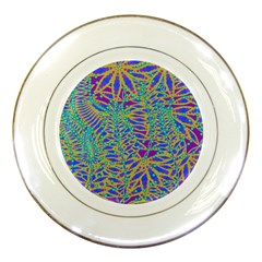 Abstract Floral Background Porcelain Plates