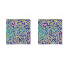 Abstract Floral Background Cufflinks (square)