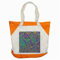Abstract Floral Background Accent Tote Bag