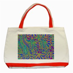 Abstract Floral Background Classic Tote Bag (Red)