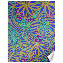 Abstract Floral Background Canvas 12  X 16