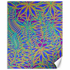 Abstract Floral Background Canvas 16  x 20