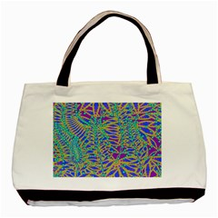 Abstract Floral Background Basic Tote Bag (Two Sides)