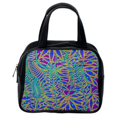 Abstract Floral Background Classic Handbags (One Side)