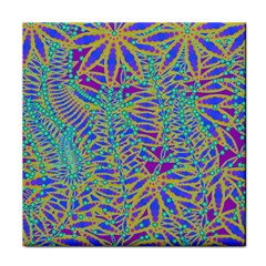 Abstract Floral Background Face Towel