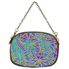 Abstract Floral Background Chain Purses (One Side)