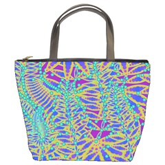 Abstract Floral Background Bucket Bags