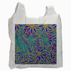 Abstract Floral Background Recycle Bag (Two Side)