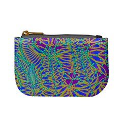 Abstract Floral Background Mini Coin Purses