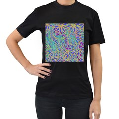 Abstract Floral Background Women s T-Shirt (Black)