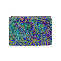 Abstract Floral Background Cosmetic Bag (medium)