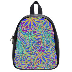 Abstract Floral Background School Bags (Small)
