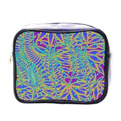 Abstract Floral Background Mini Toiletries Bags