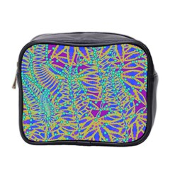 Abstract Floral Background Mini Toiletries Bag 2 Side